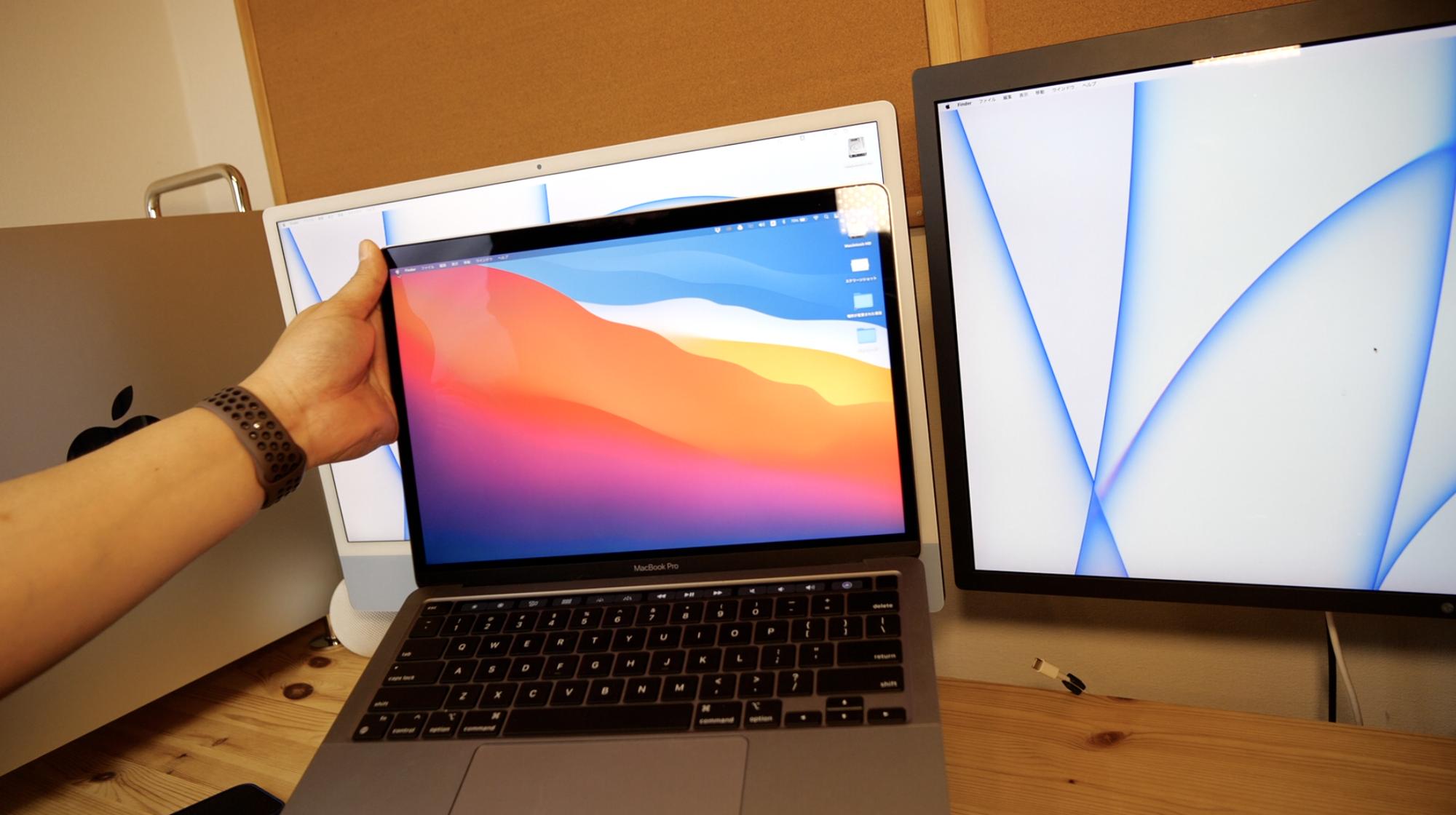 13インチMacBook Proと比べ作業領域が広い