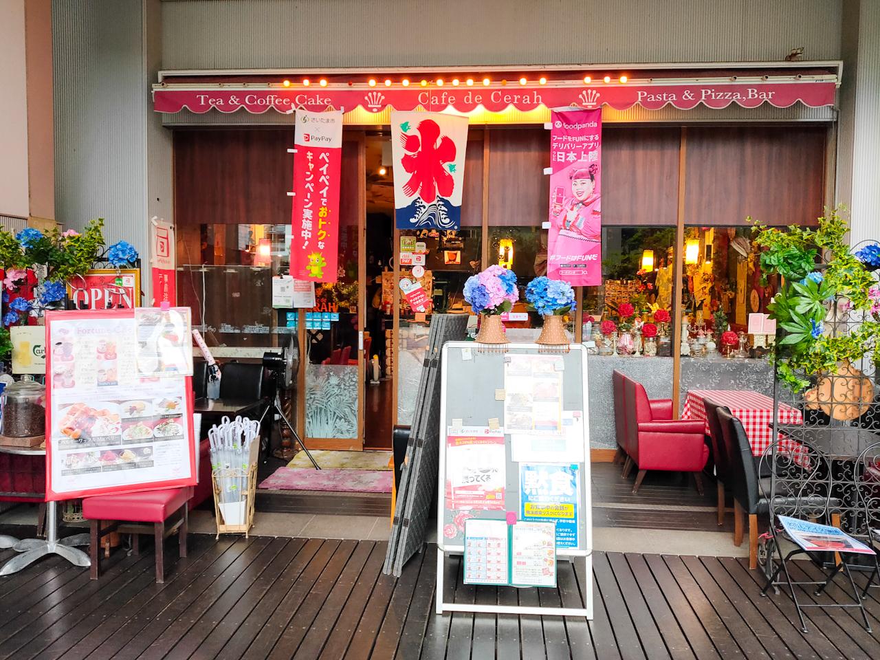 シーノ大宮1階にある「カフェ ド チュラ」さん