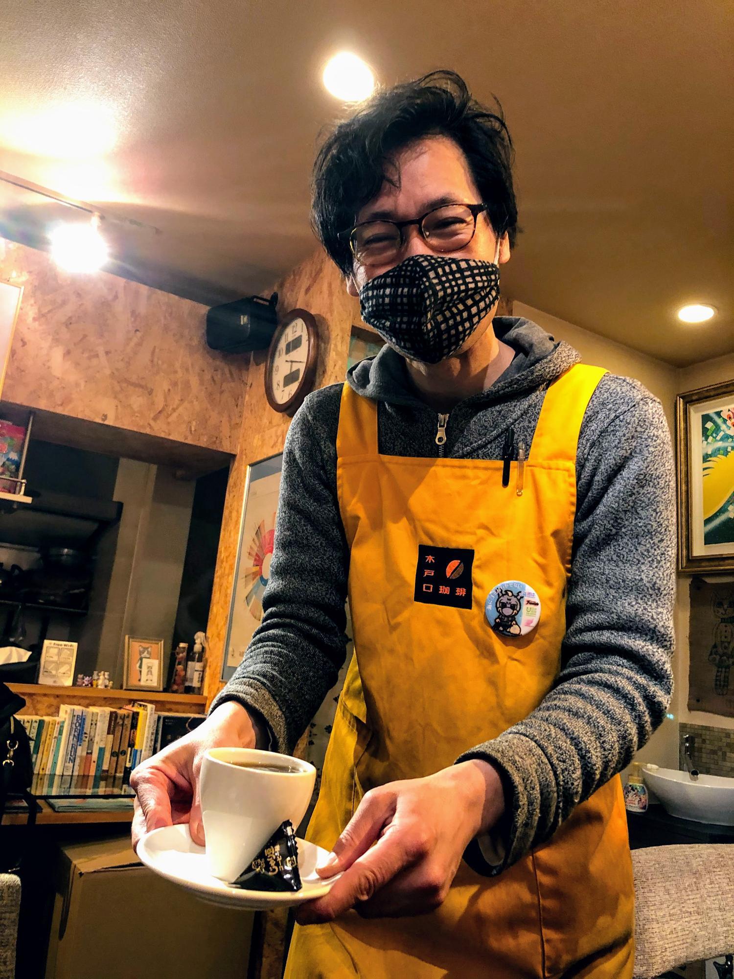 「木戸口珈琲」店主の木戸口武さん