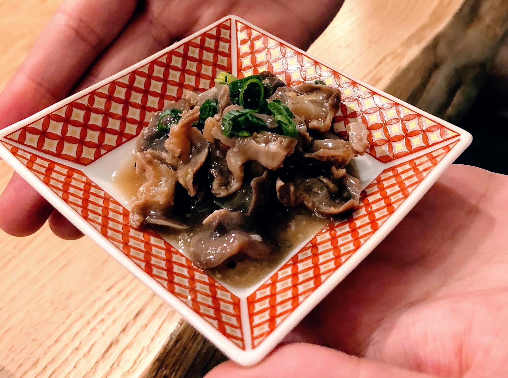 砂肝にんにくポン酢(390円)