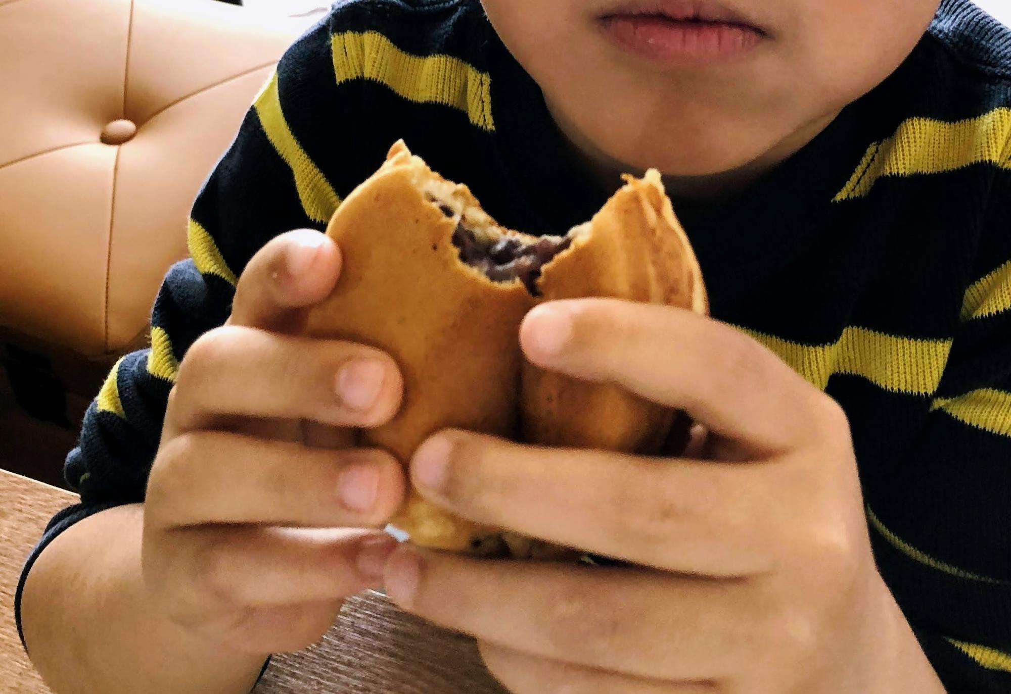 うちの空太郎氏も「桔梗屋さんのあんこは特別でおいしいんだよ」と学校で得た知識を披露してくれました