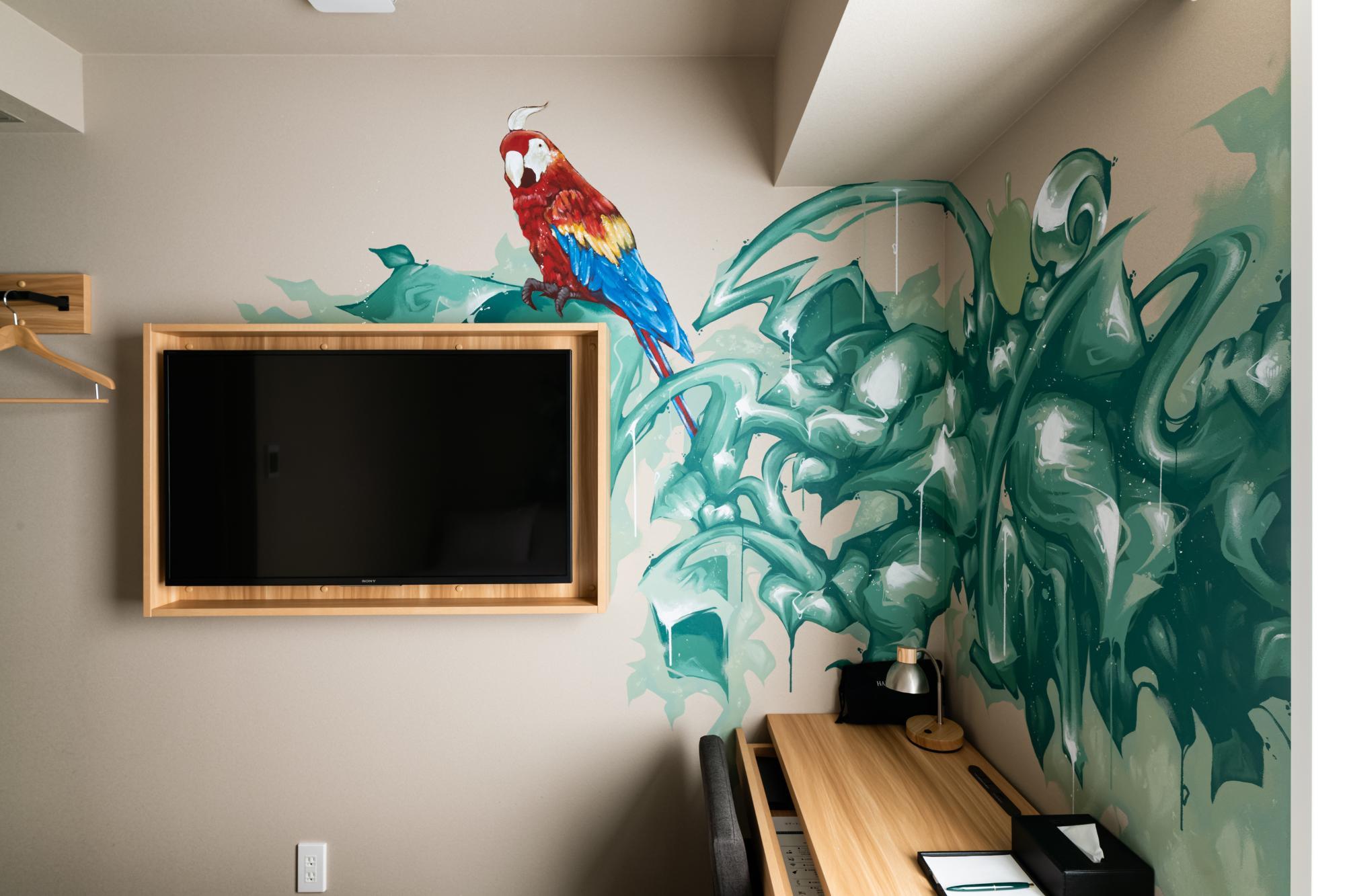 川崎市在住のアーティスト「WOOD」さんによるジャングルをイメージした絵