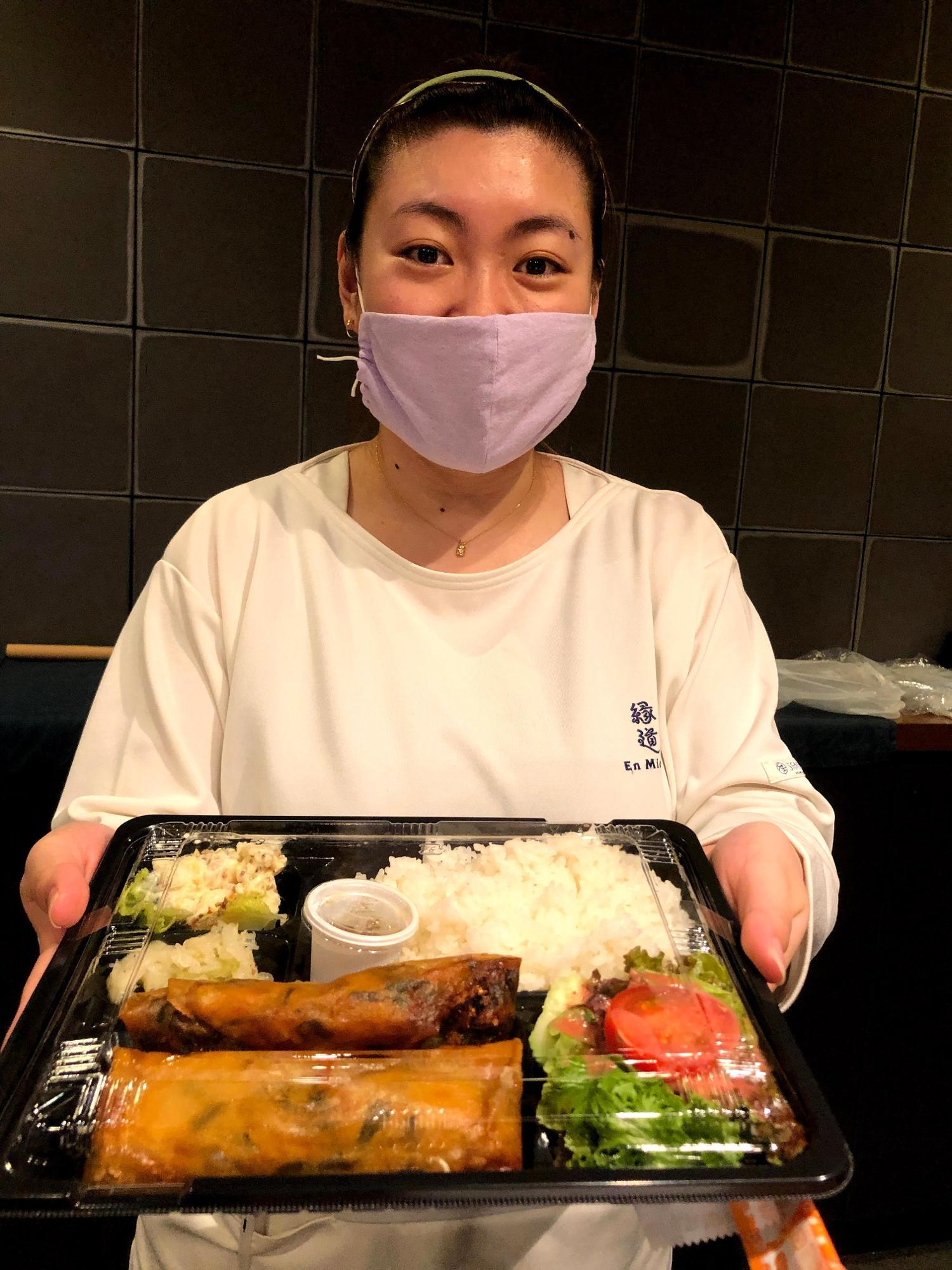 グリーンカレー春巻き弁当(780円)