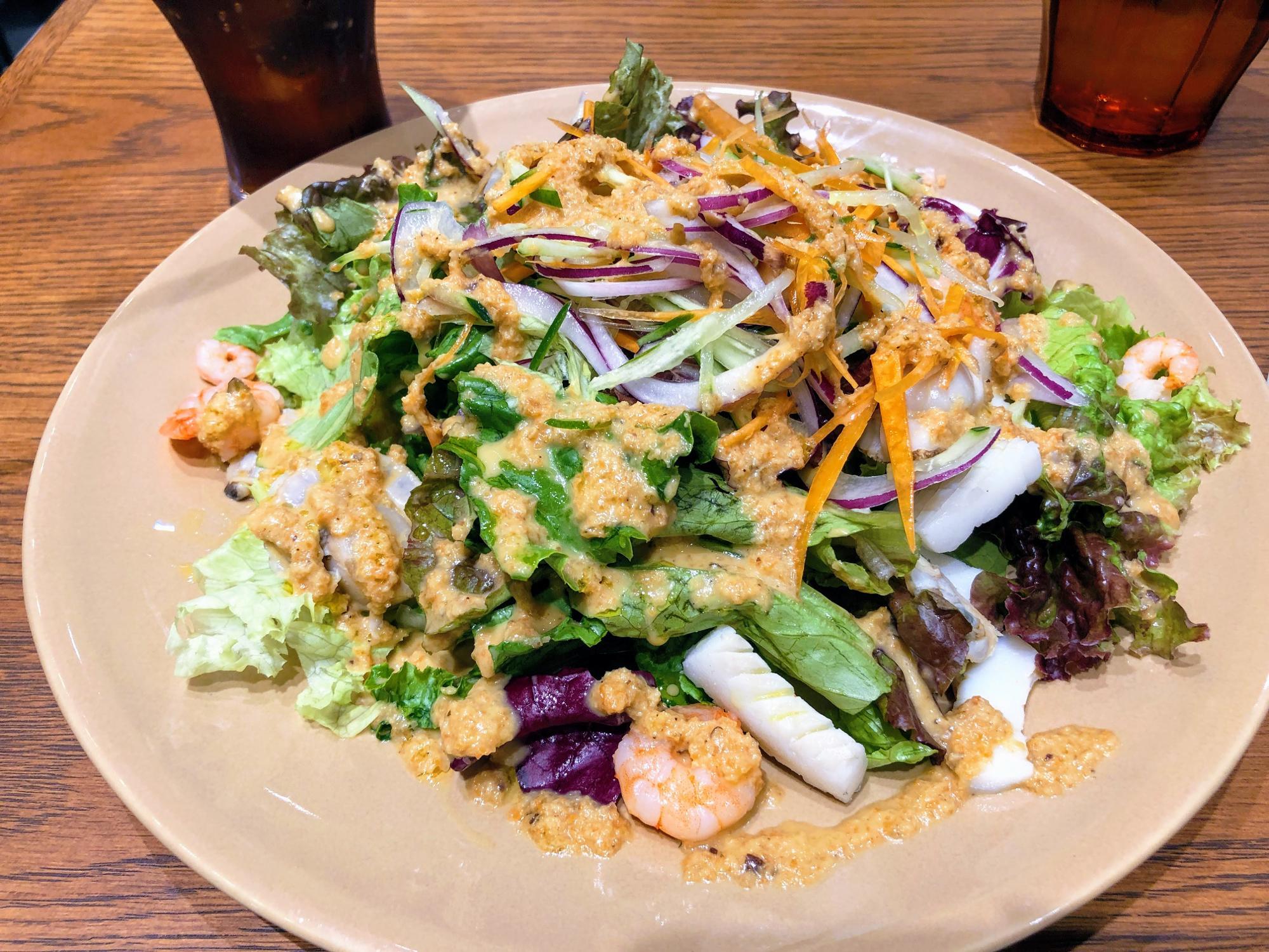 ドレッシングがとても美味しかったカプリ風サラダ