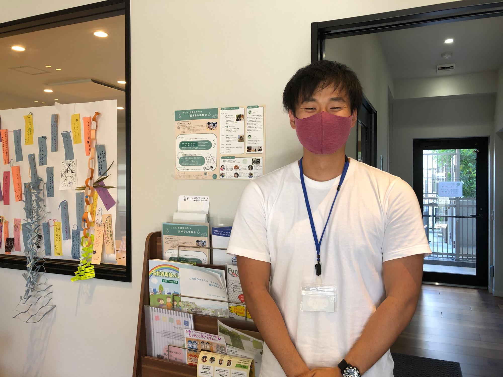 「暮らしの保健室へ、気軽にご相談ください」と相談員の勝山さん