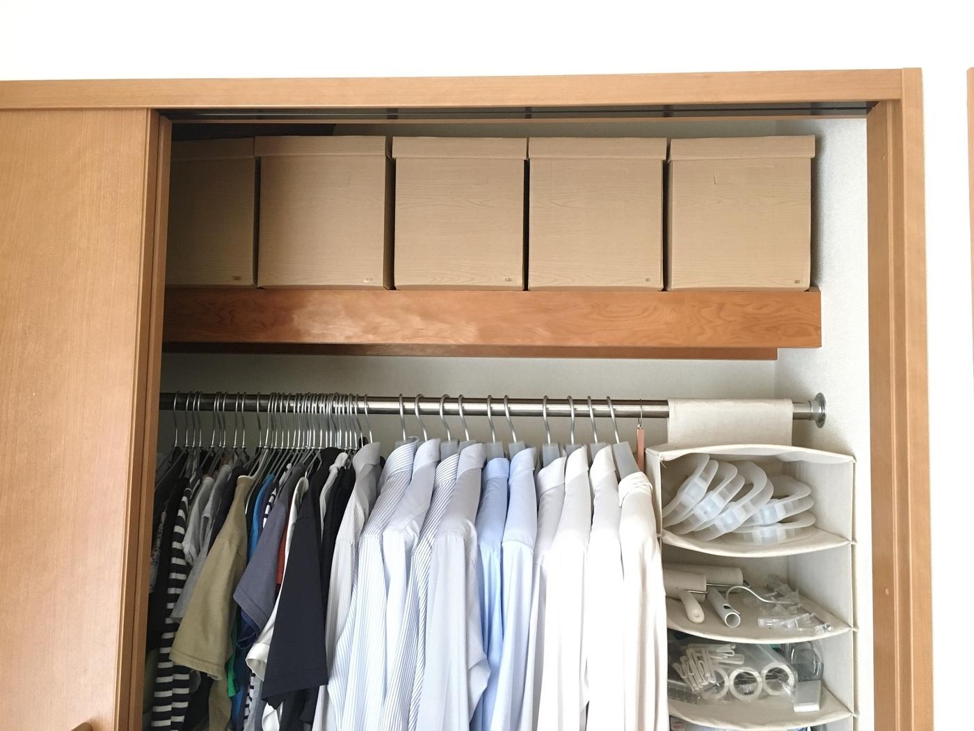 A4サイズの箱なら、服がたくさん入っていても重たくなりすぎません