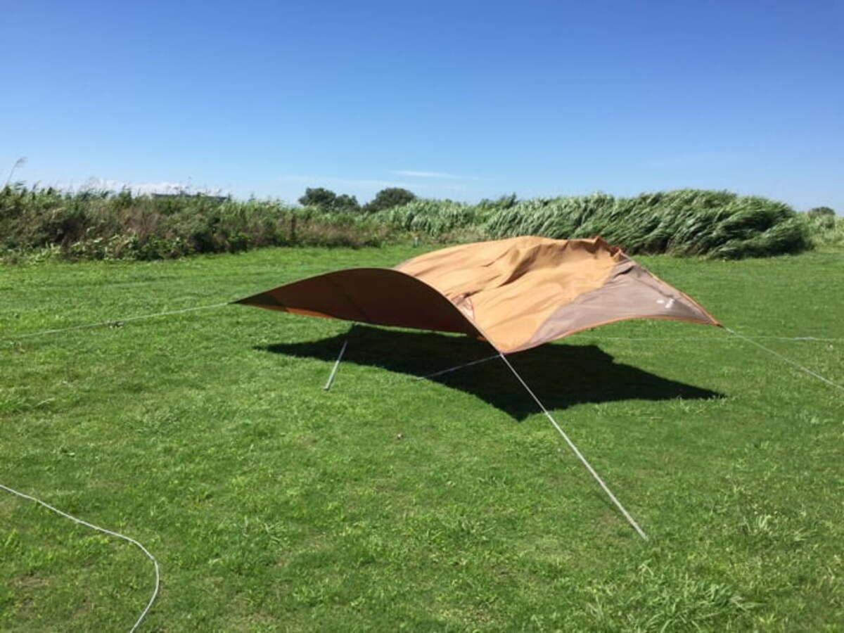 風速10m以上での設営や撤収は難易度が高い