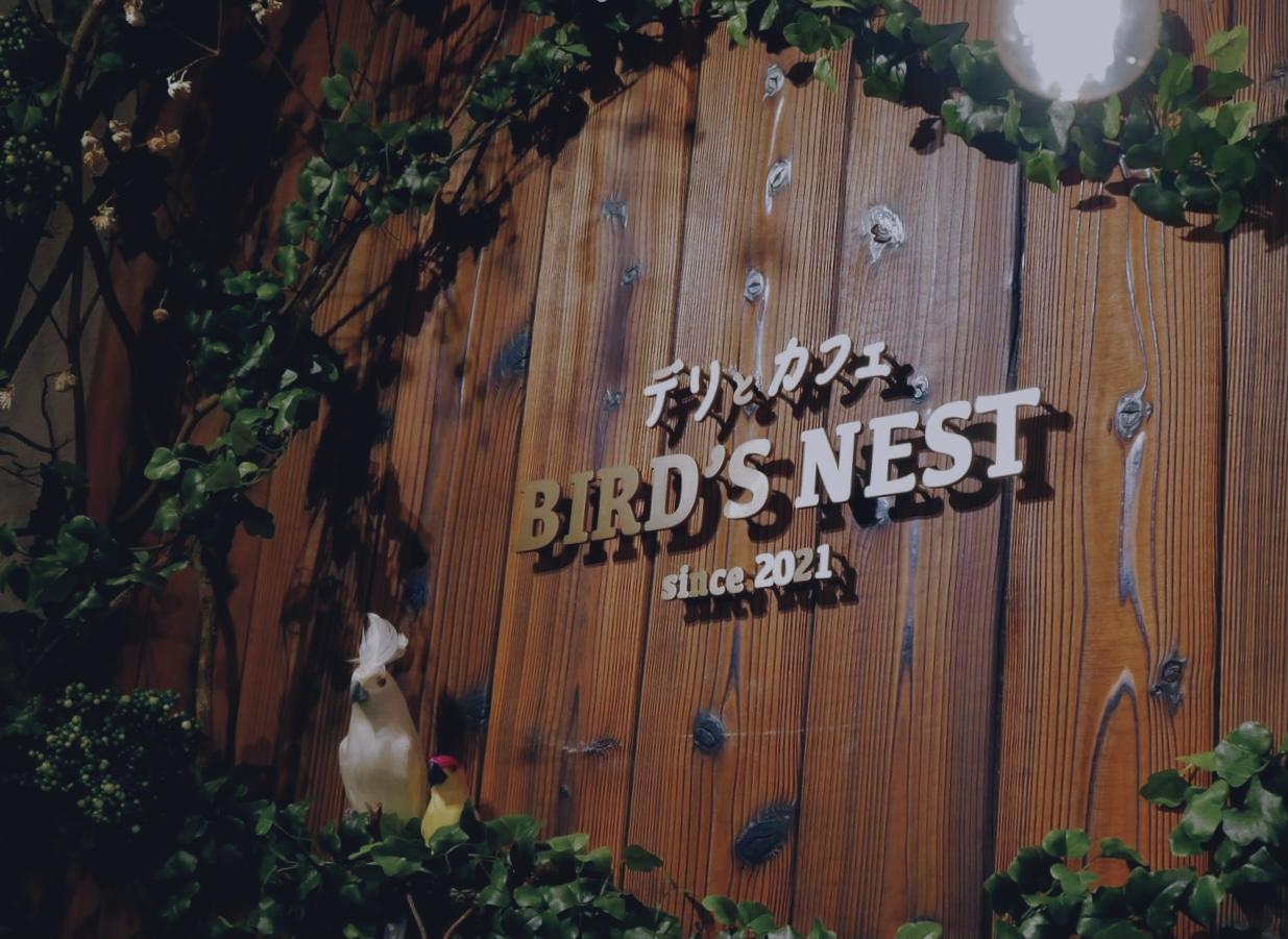 BIRD'S NESTの名の通り小鳥が休んでいます