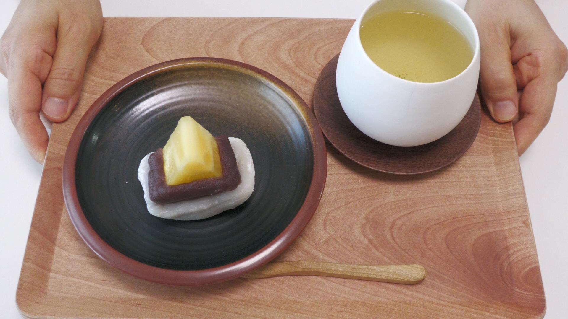 温かいお茶と一緒に。台湾パイナップル大福