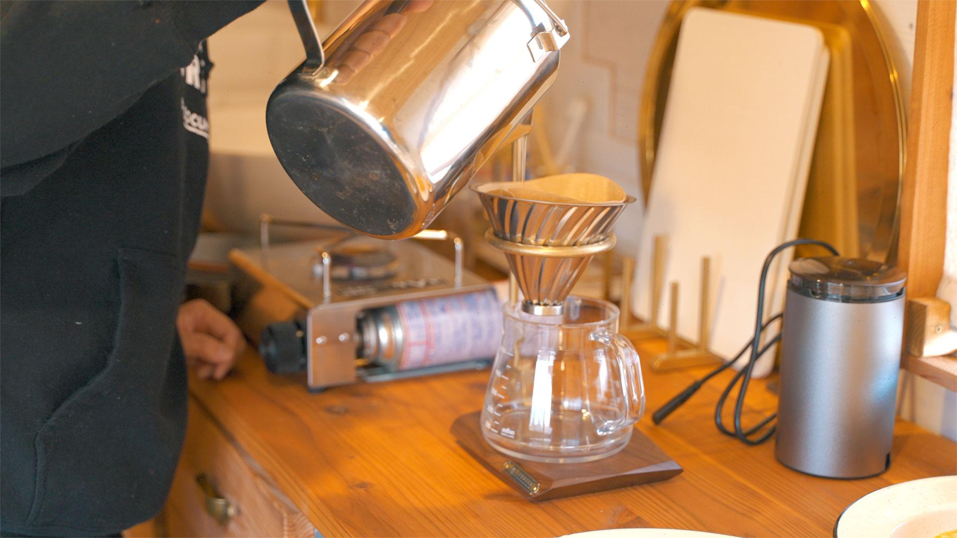 これでコーヒーを入れるだけでちょっと特別な感じがします