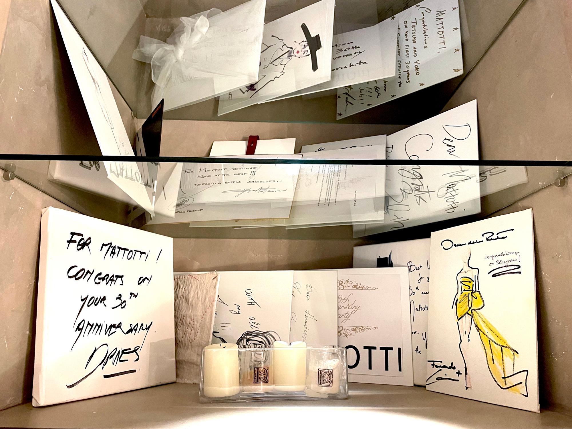 海外の有名デザイナー達から届けられた数々のメッセージは、信頼の証を物語っている