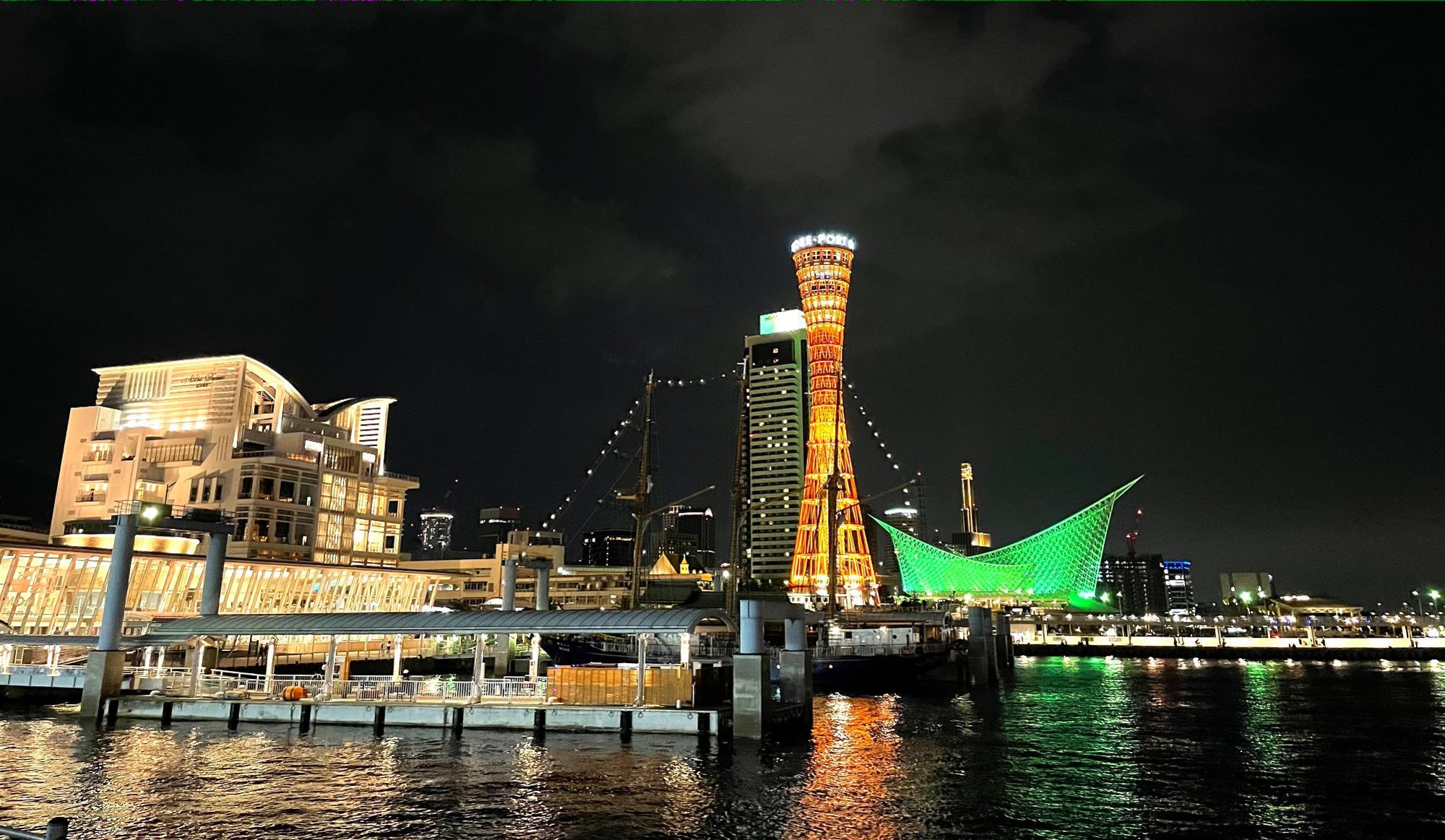 色んな建物達との美しい光のコラボレーション