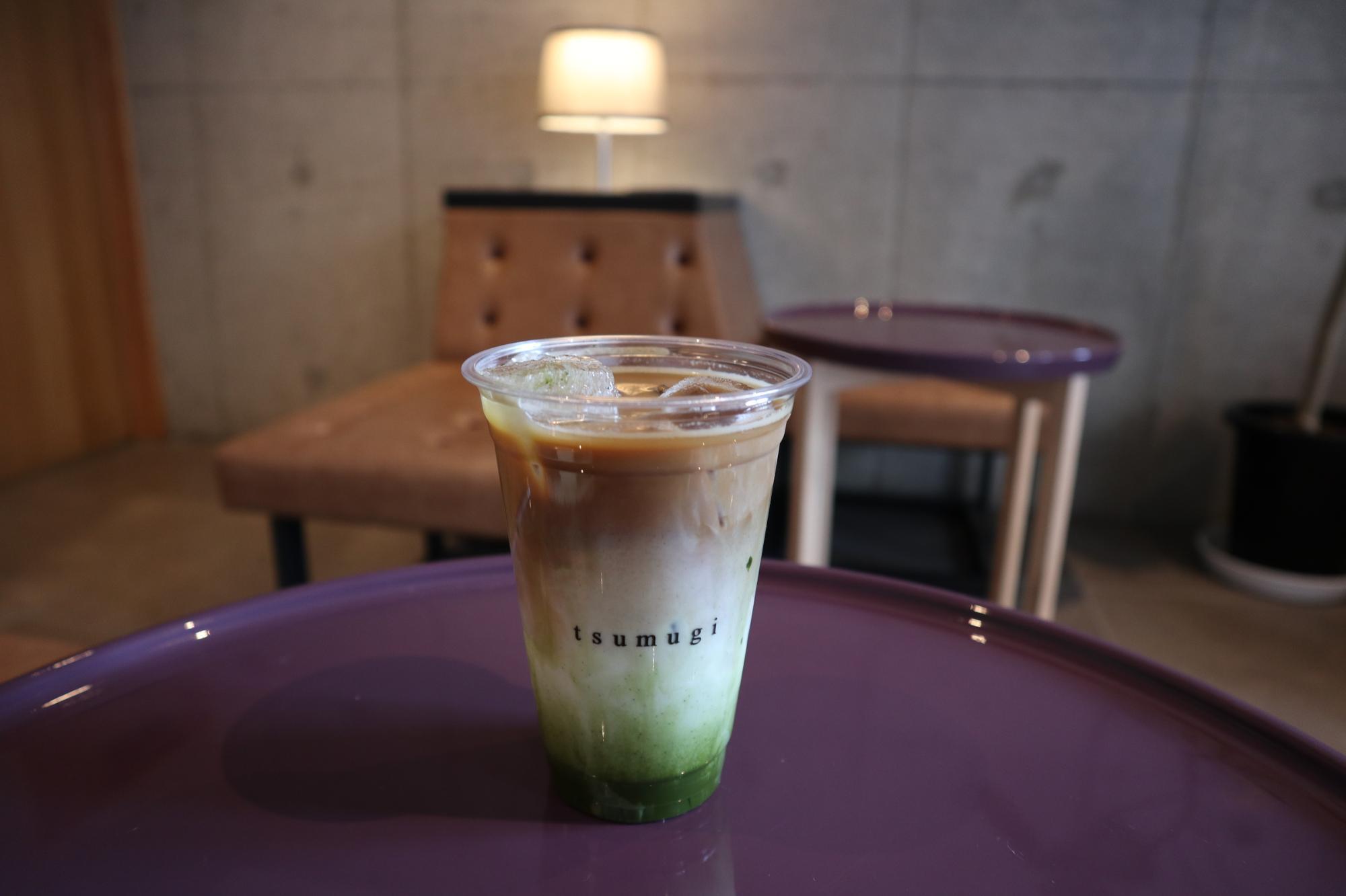 おすすめは京都の抹茶を使用した三色ドリンク