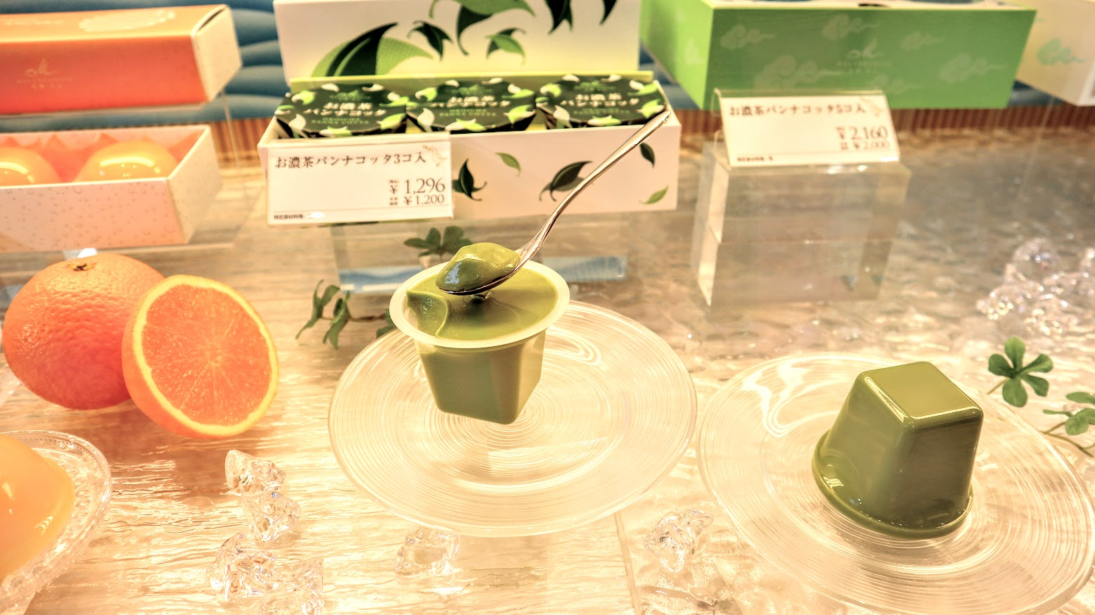 今年の夏新登場!お濃茶パンナコッタが人気!