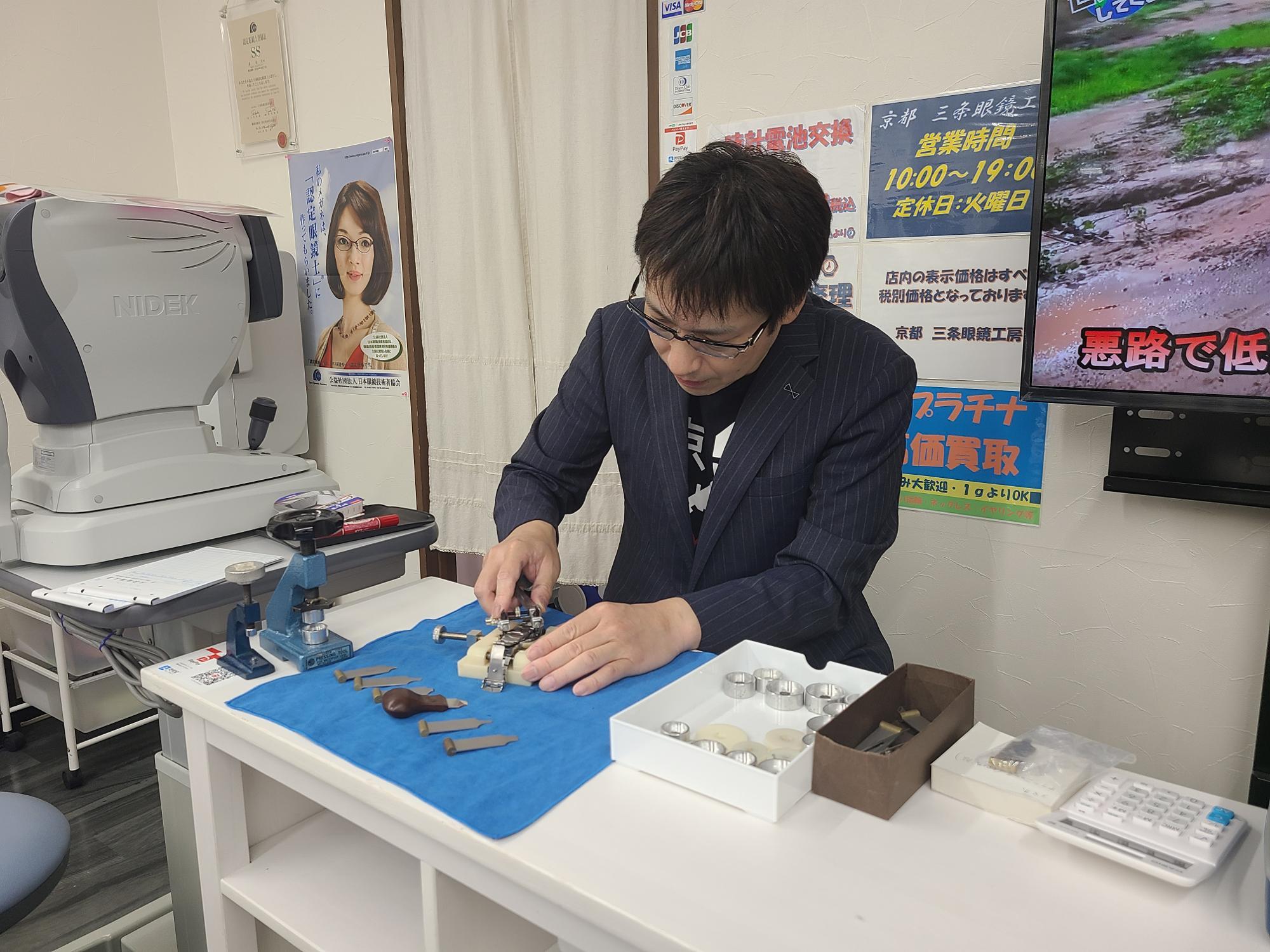 腕時計のオーバーホール他、本格的な修理も相談に応じてくれます。