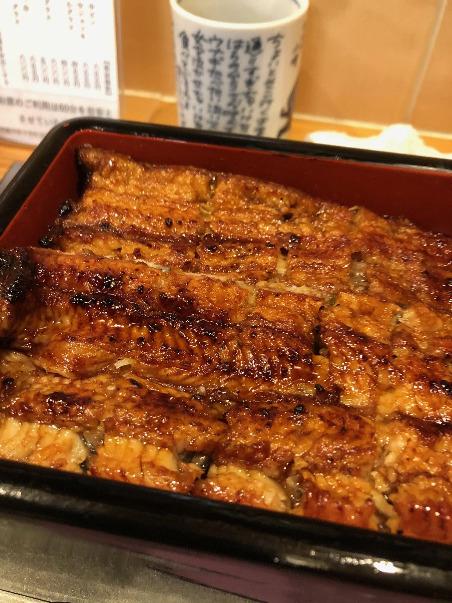 新仔鰻重(5390円)うなぎの甘味、旨味、ふわっとろの食感がたまらない逸品