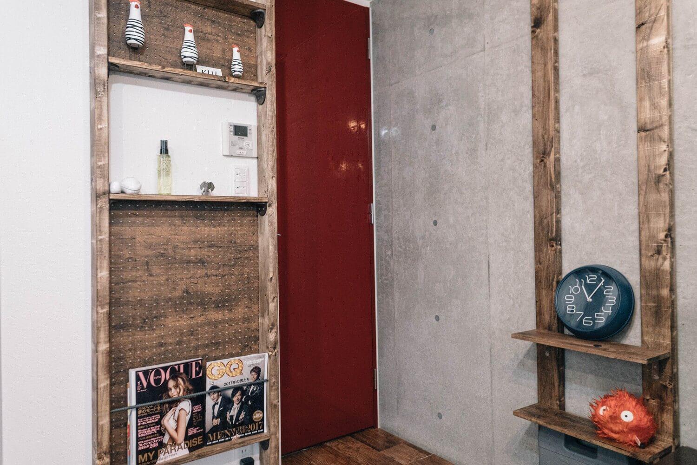 DIYで作った雑誌棚