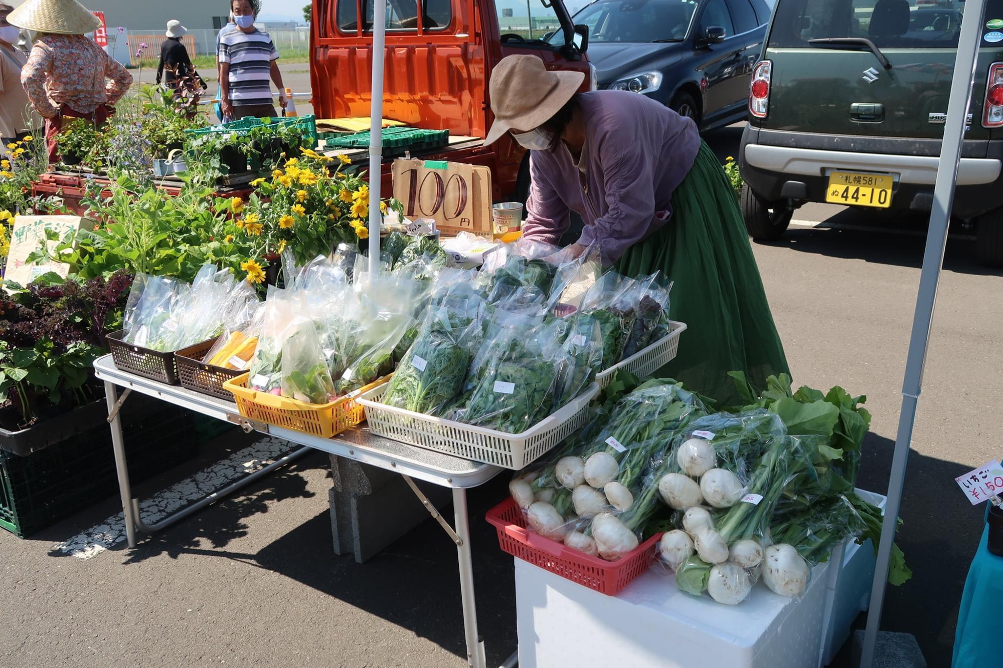 季節によっていろいろな野菜が並びます