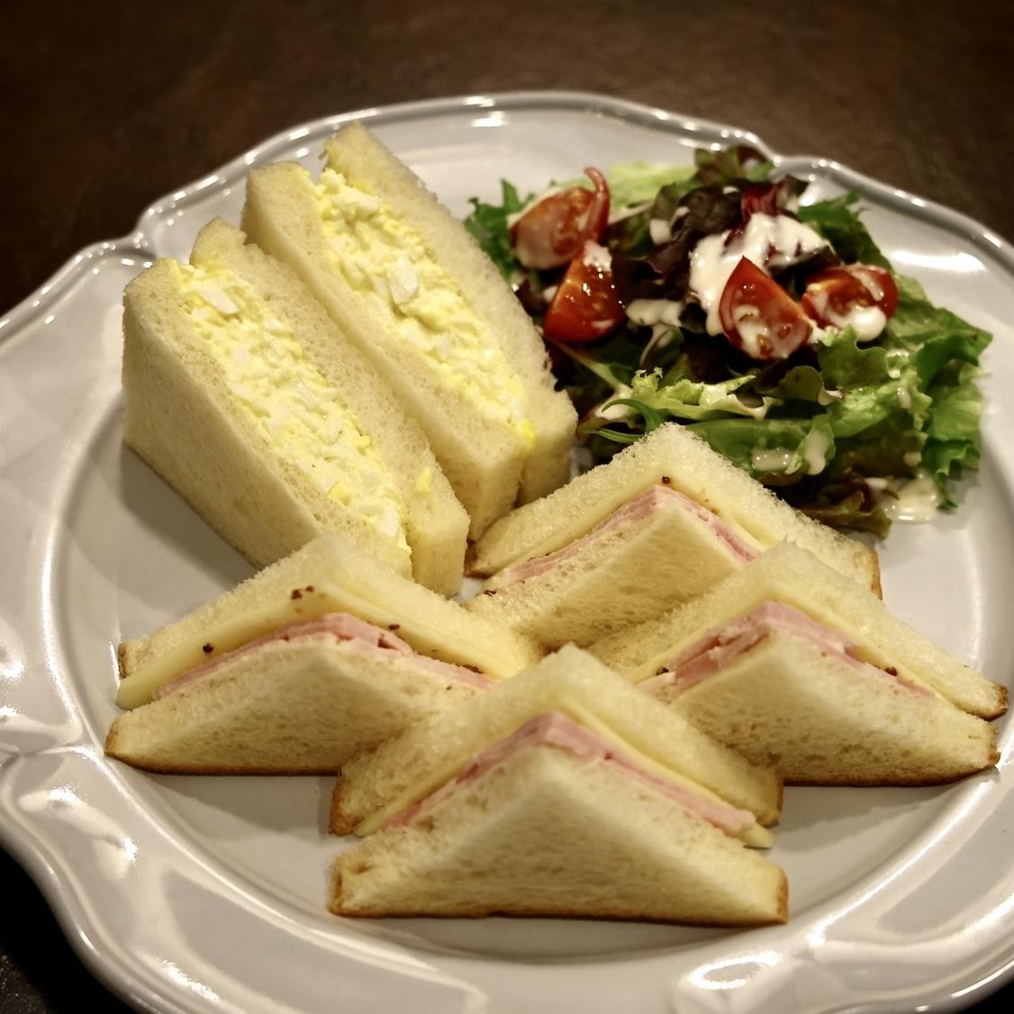 北海道ミルク食パンサンド(ドリンク付)