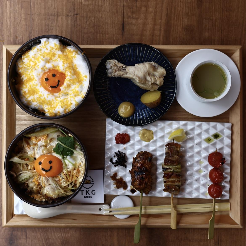 産直播州地卵のたまごかけご飯と親子丼:2000円