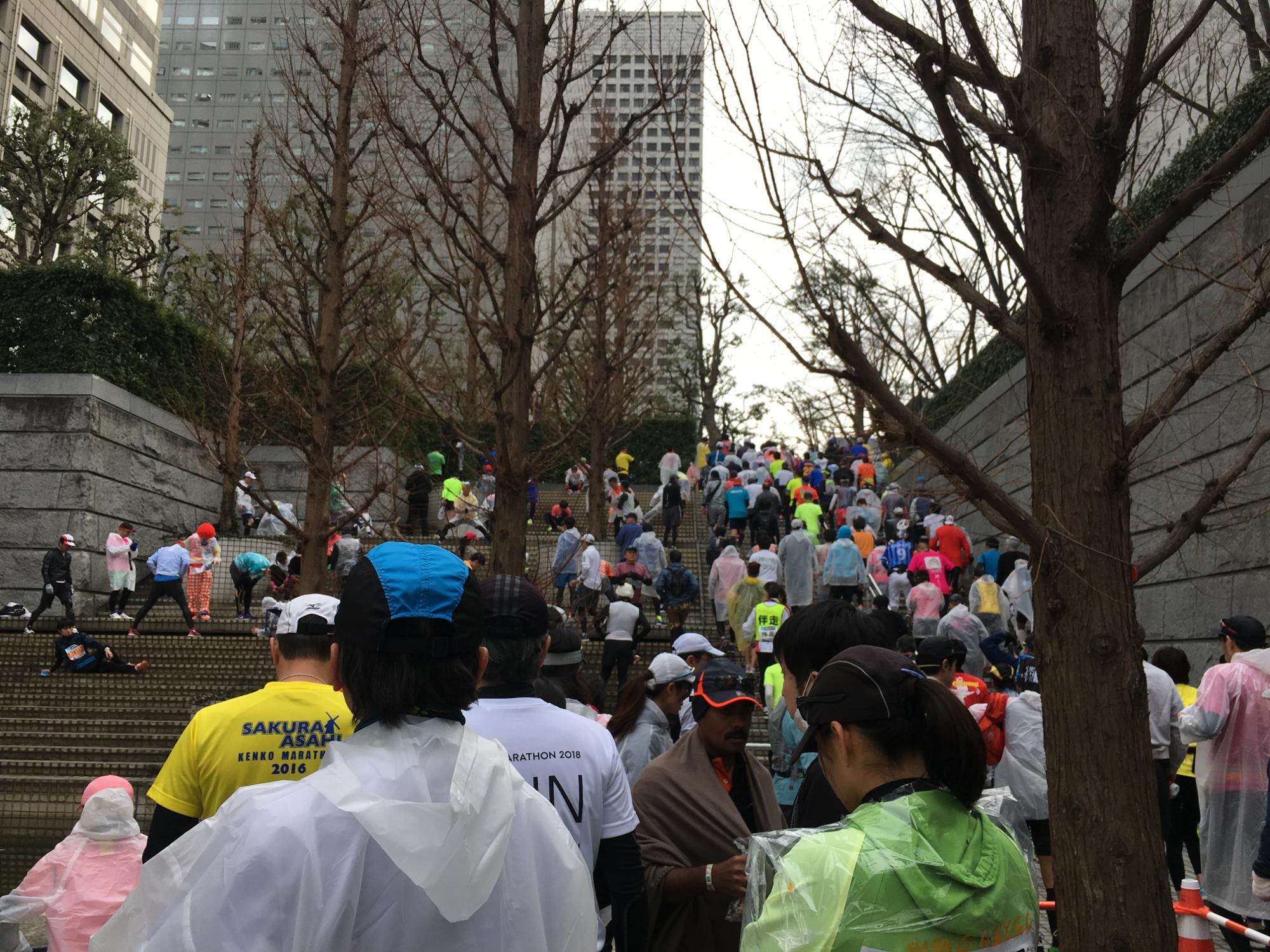 東京マラソンスタート会場