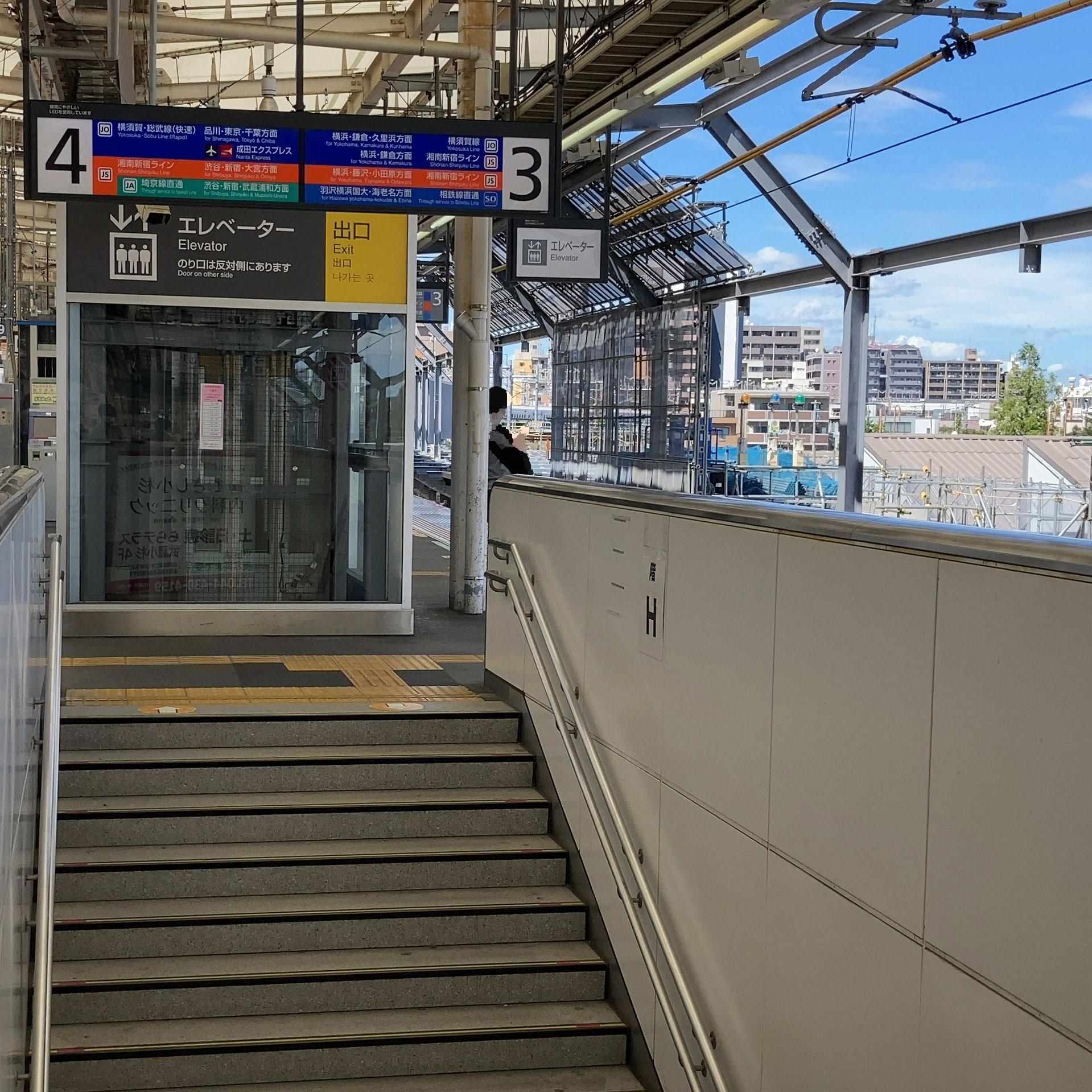 JR/武蔵小杉駅に相鉄線が到着です