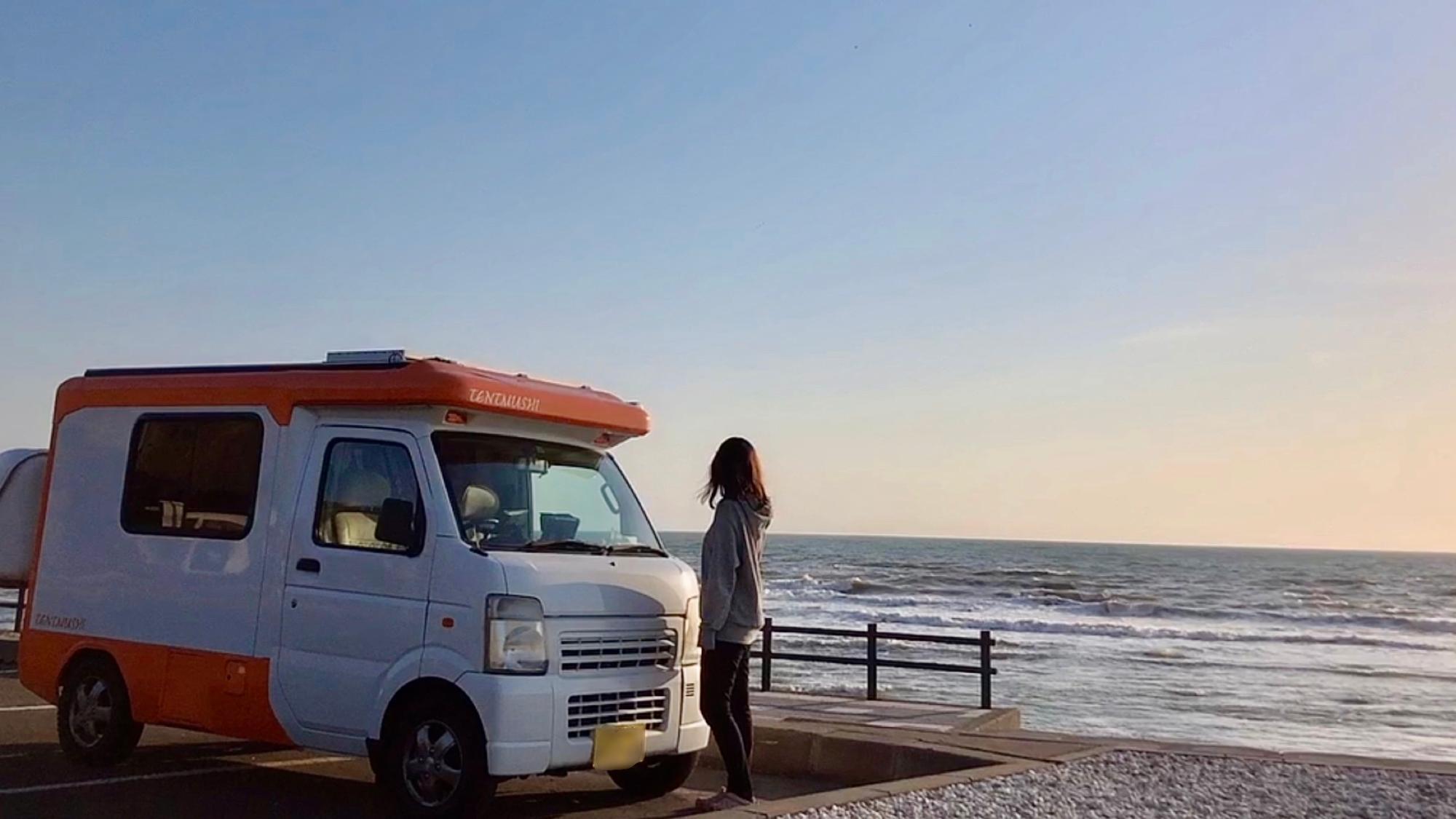 △軽キャンピングカーは一人旅に最適