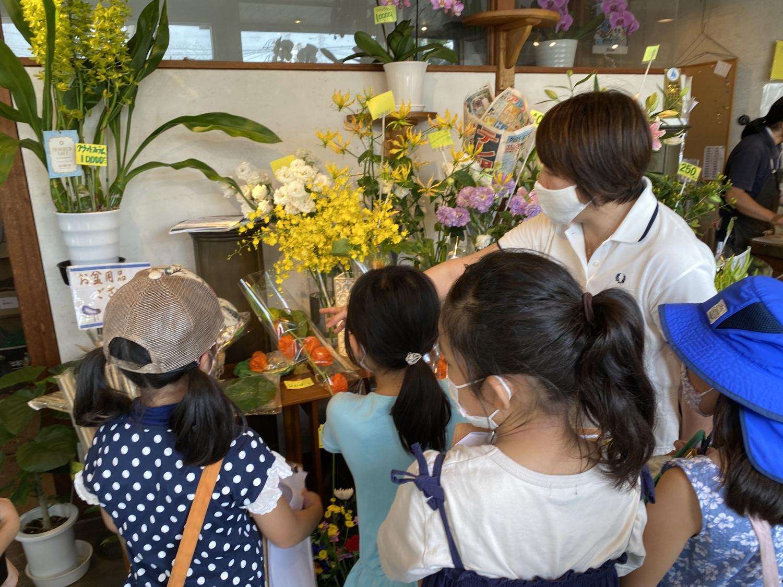 花屋という看板のない【フラワーショップまきば】ではお花に囲まれて取材をしました
