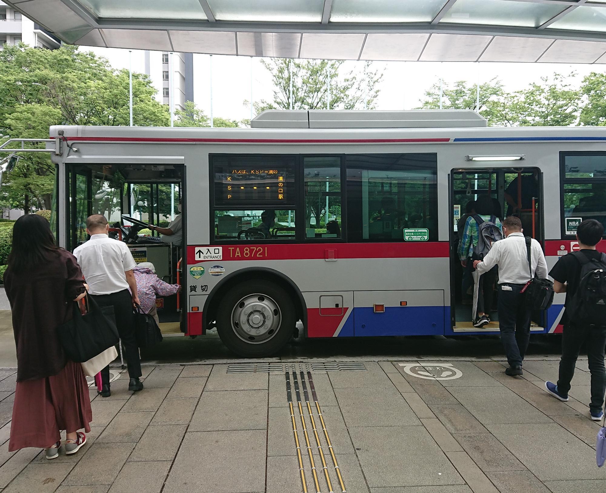 溝の口駅との直行シャトルバス(無料)で駅まで5分