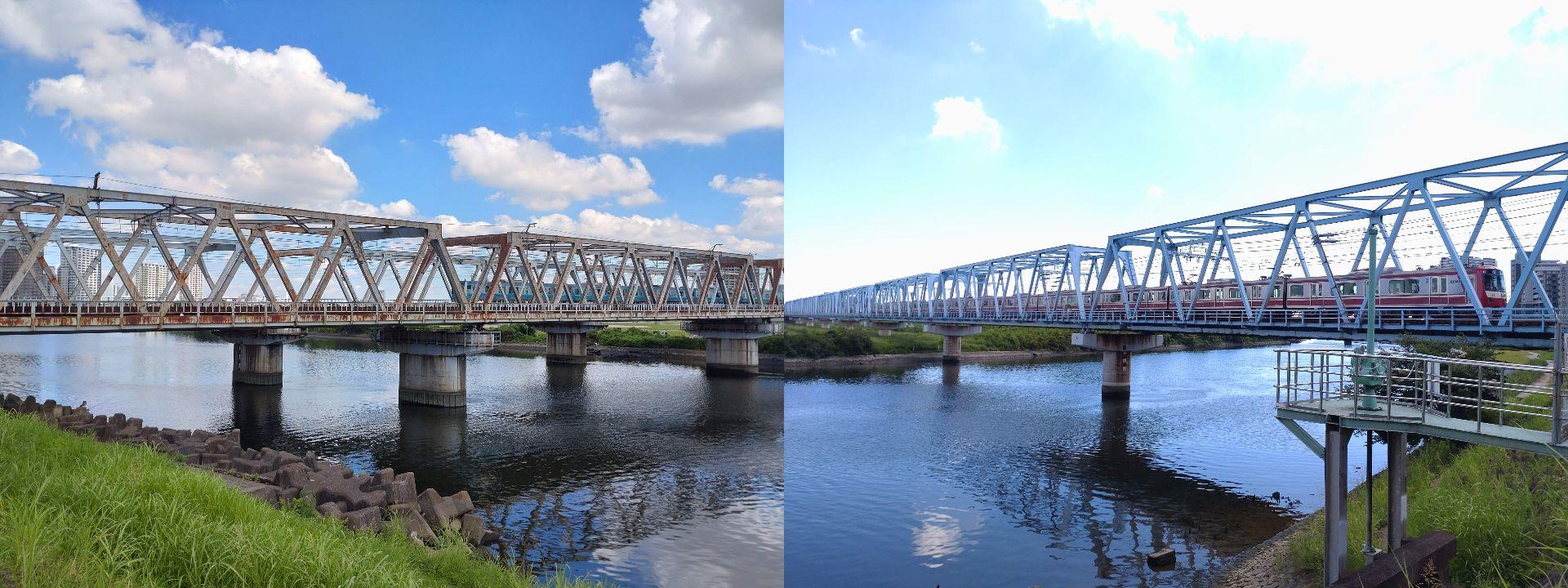左:JR線 右:京浜急行本線