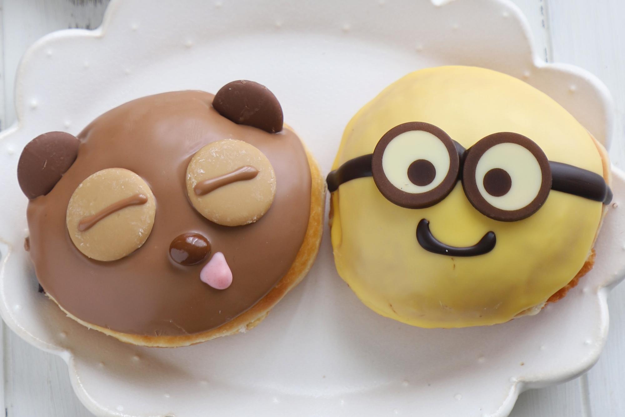 右:バナナミルク ボブ、左:キャラメルチョコ ティム