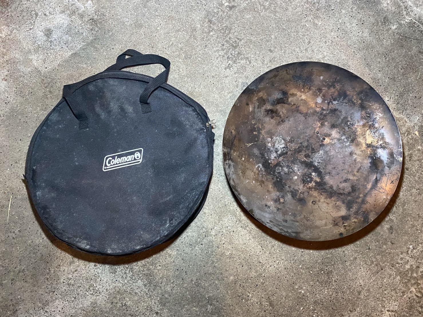 長年愛用している焚火台のケースがカビでしまった