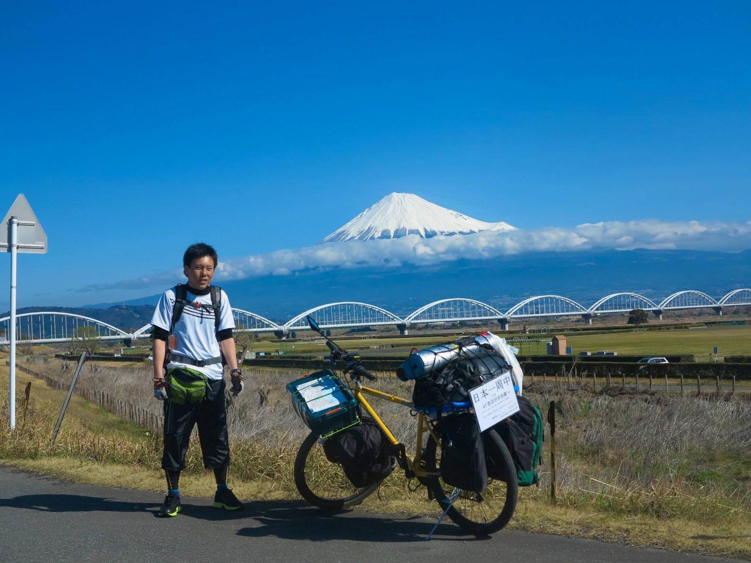 自転車で日本一周した時は、紙をファイルに入れた超簡単ボードでした