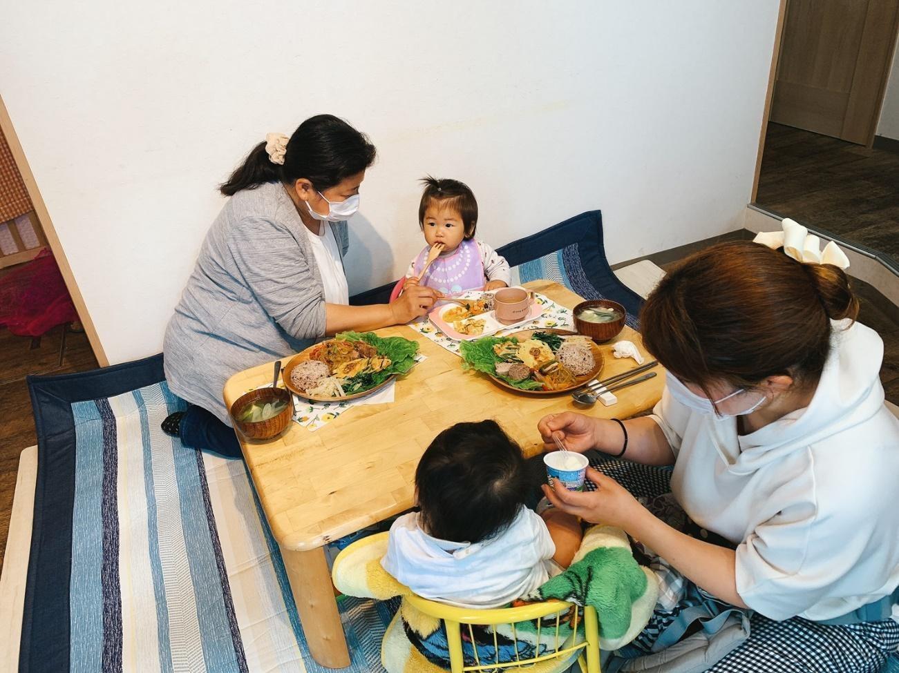 親子カフェのプレ開催日の様子