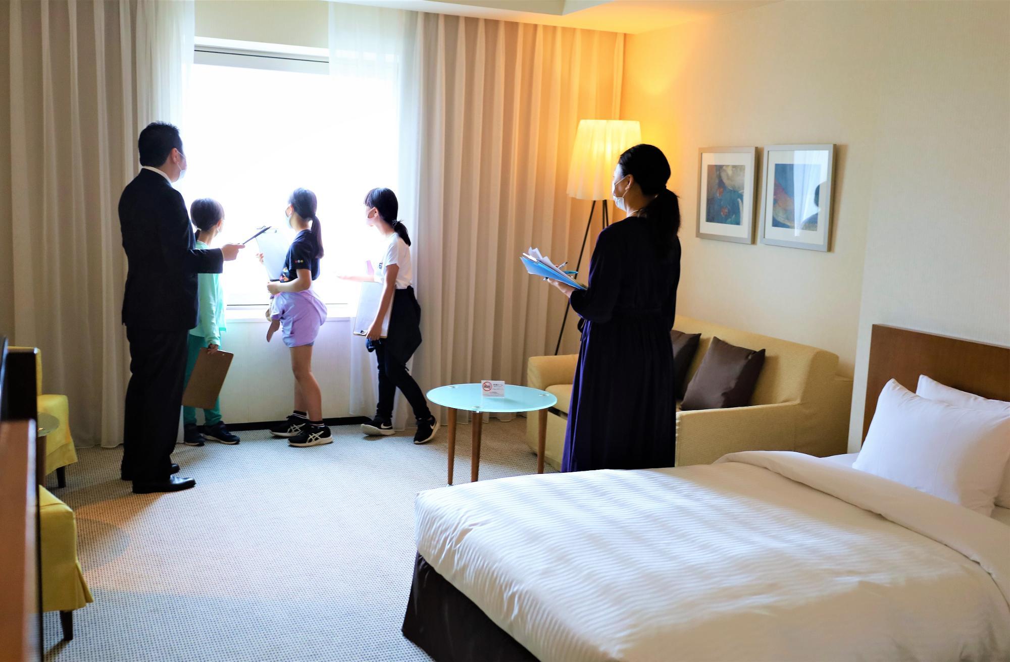 ホテルの雰囲気を満喫。