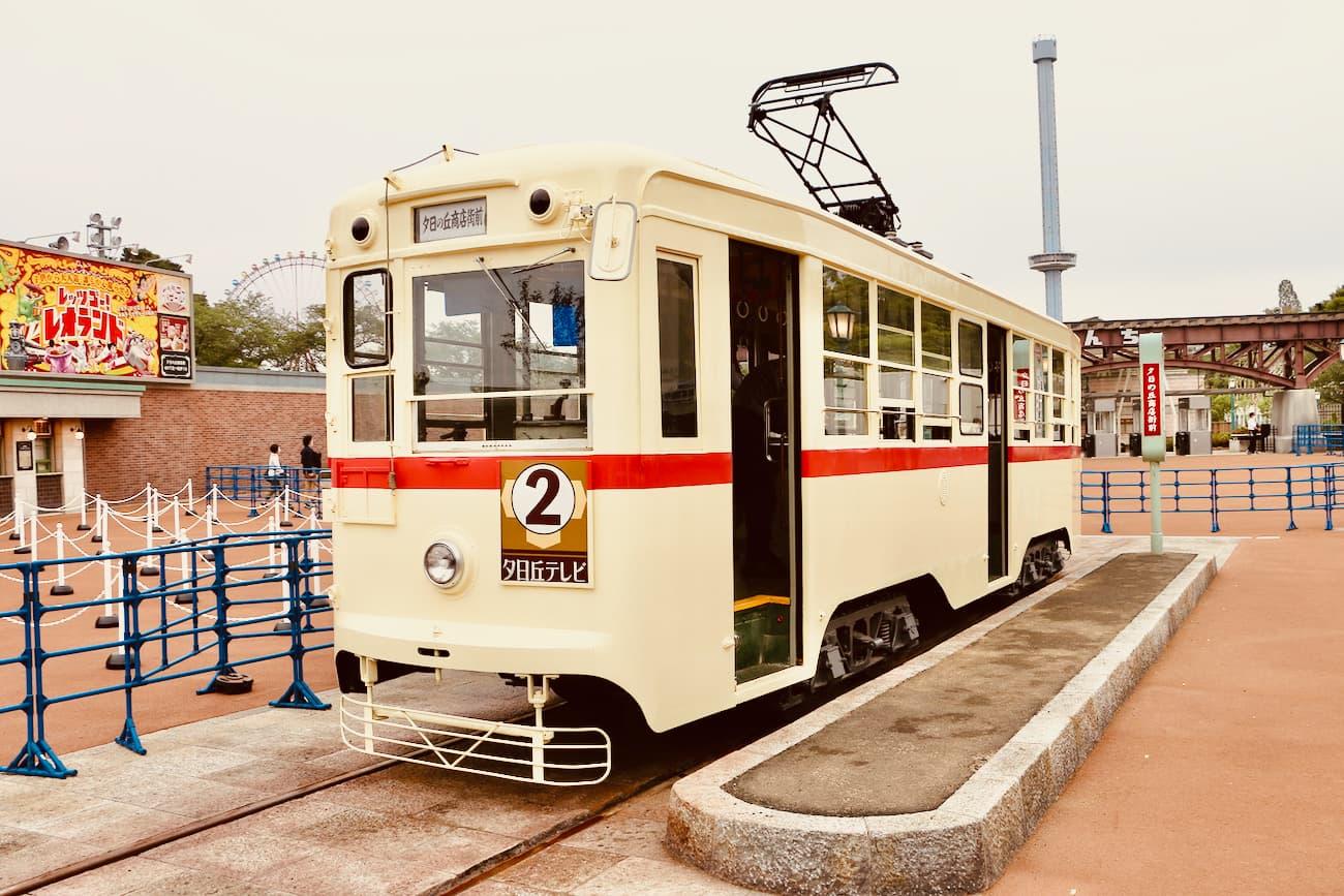 長崎電気軌道株式会社から譲り受けた路面電車(1050形1051号)