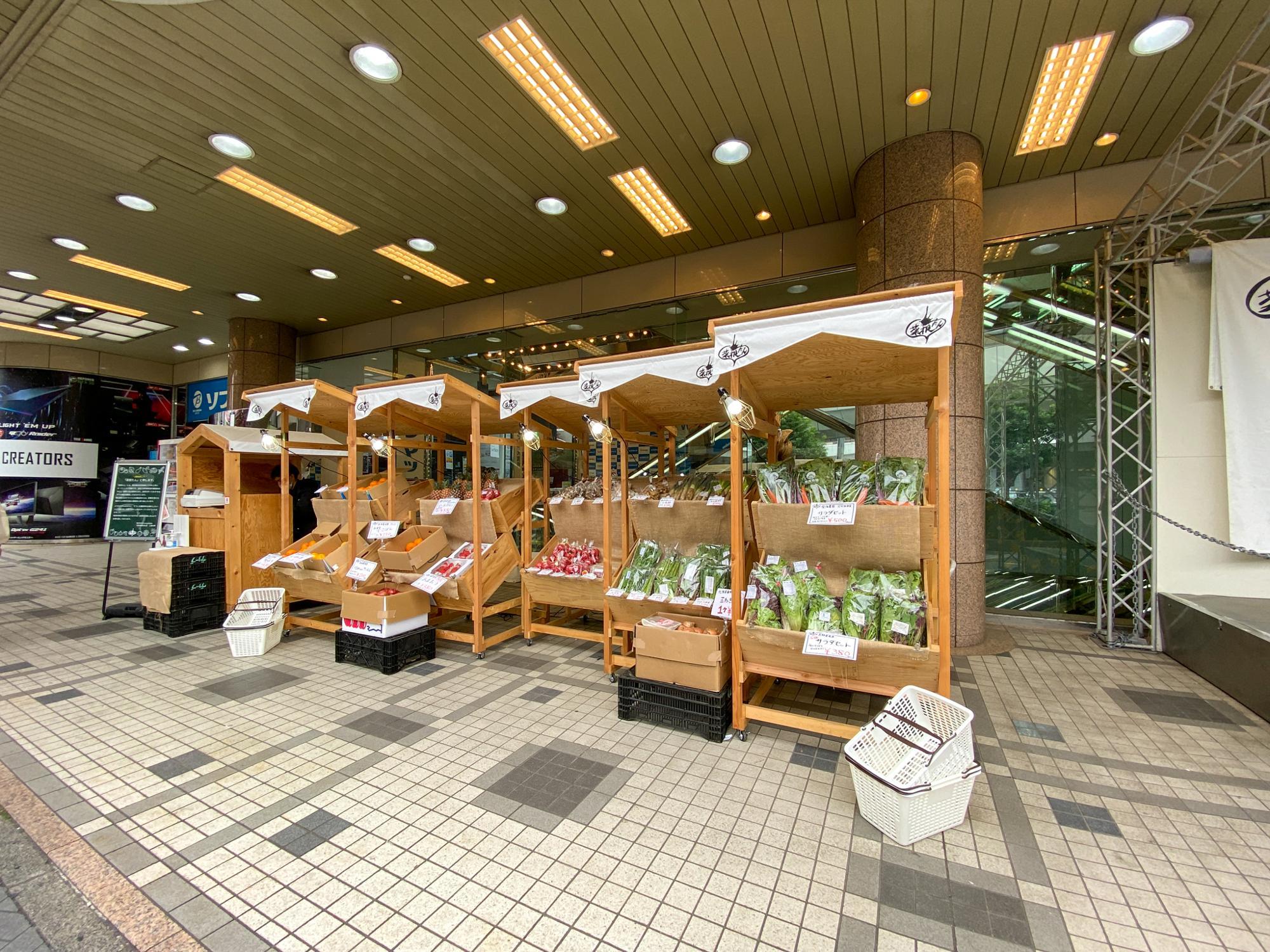 木の棚だけで構成されたお店、それが菜根たん