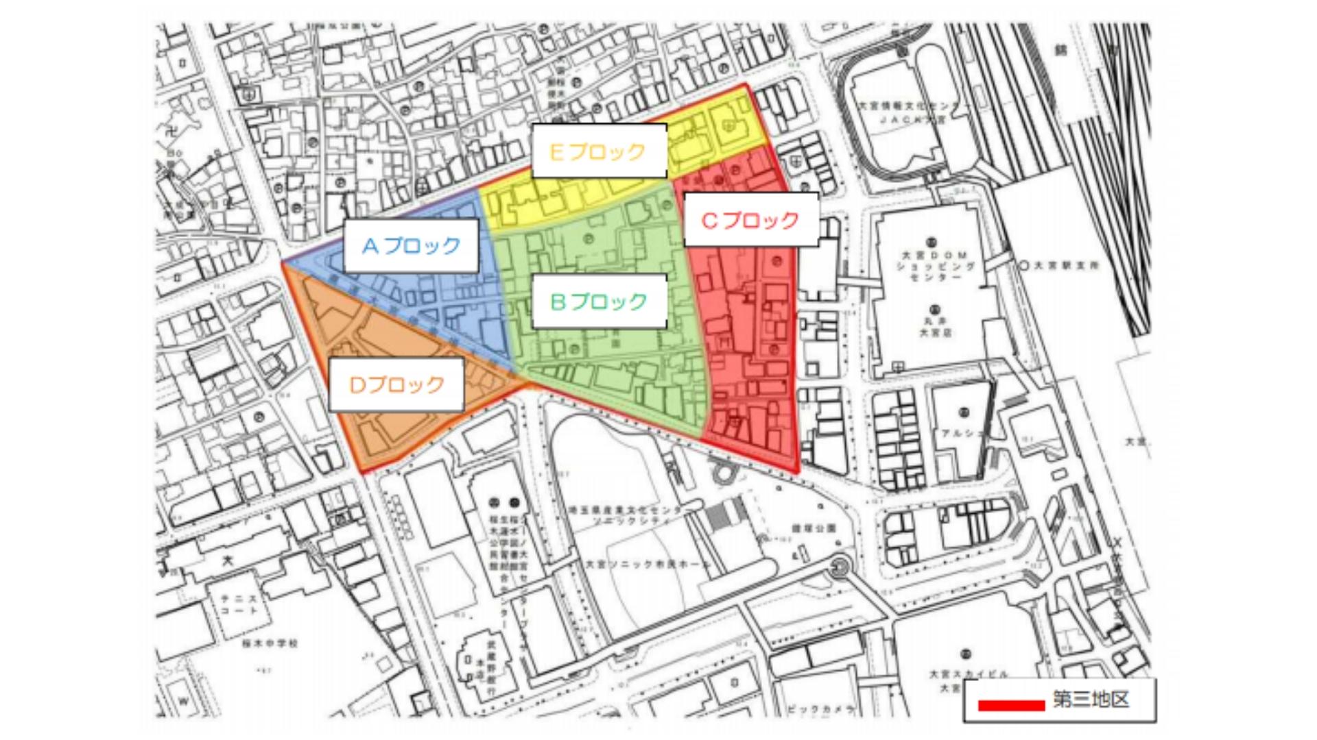 さいたま市のWebより引用の地区分けマップ