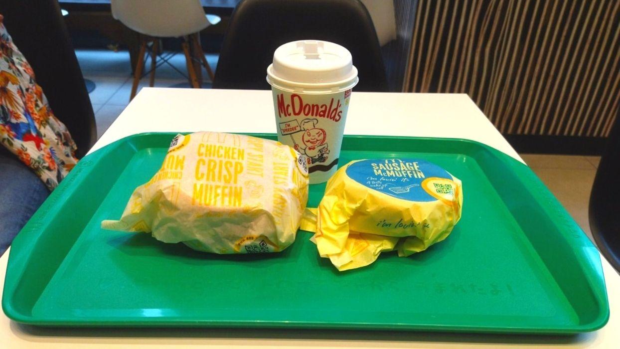 うまく注文すれば、バーガー2つとドリンクが330円で食べられる。