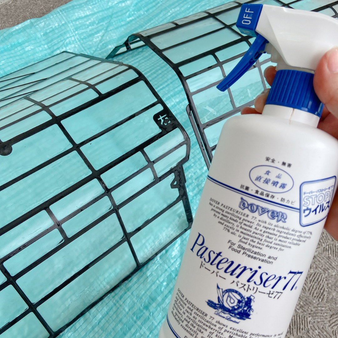 エアコンフィルターの掃除:パストリーゼ使用