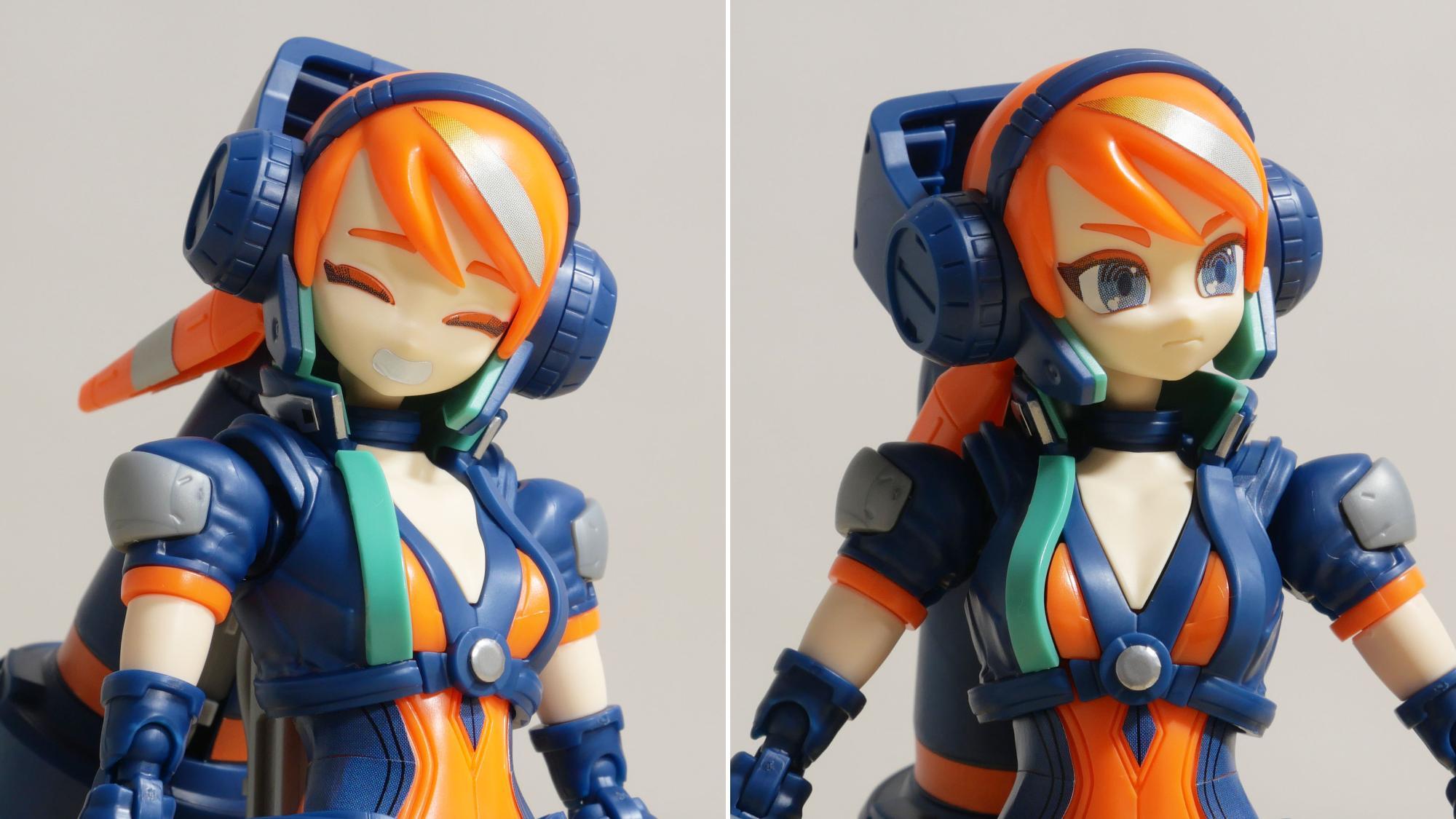 左:「笑顔」装着状態 / 右:「怒り顔」装着状態