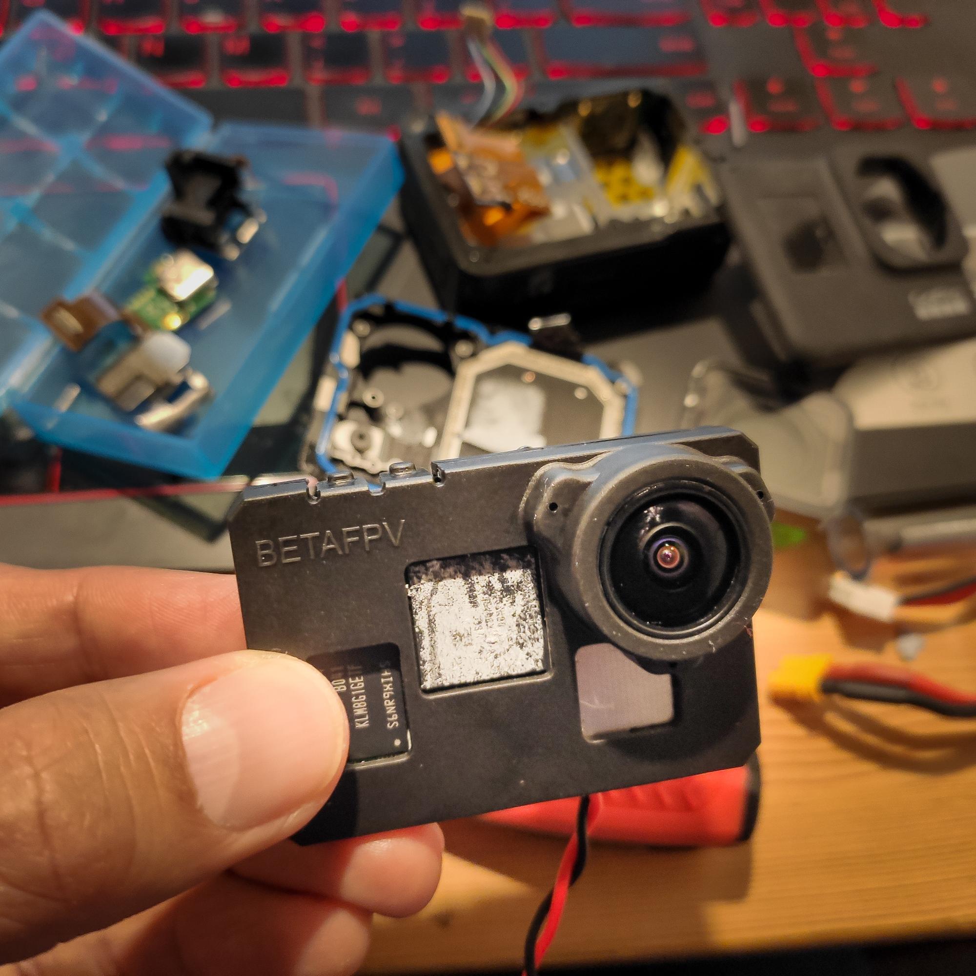 GoProを軽量化した剥きプロの出来上がり!