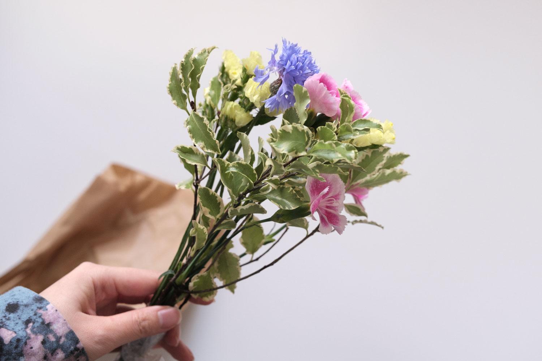 2021年3月中旬に届いたお花