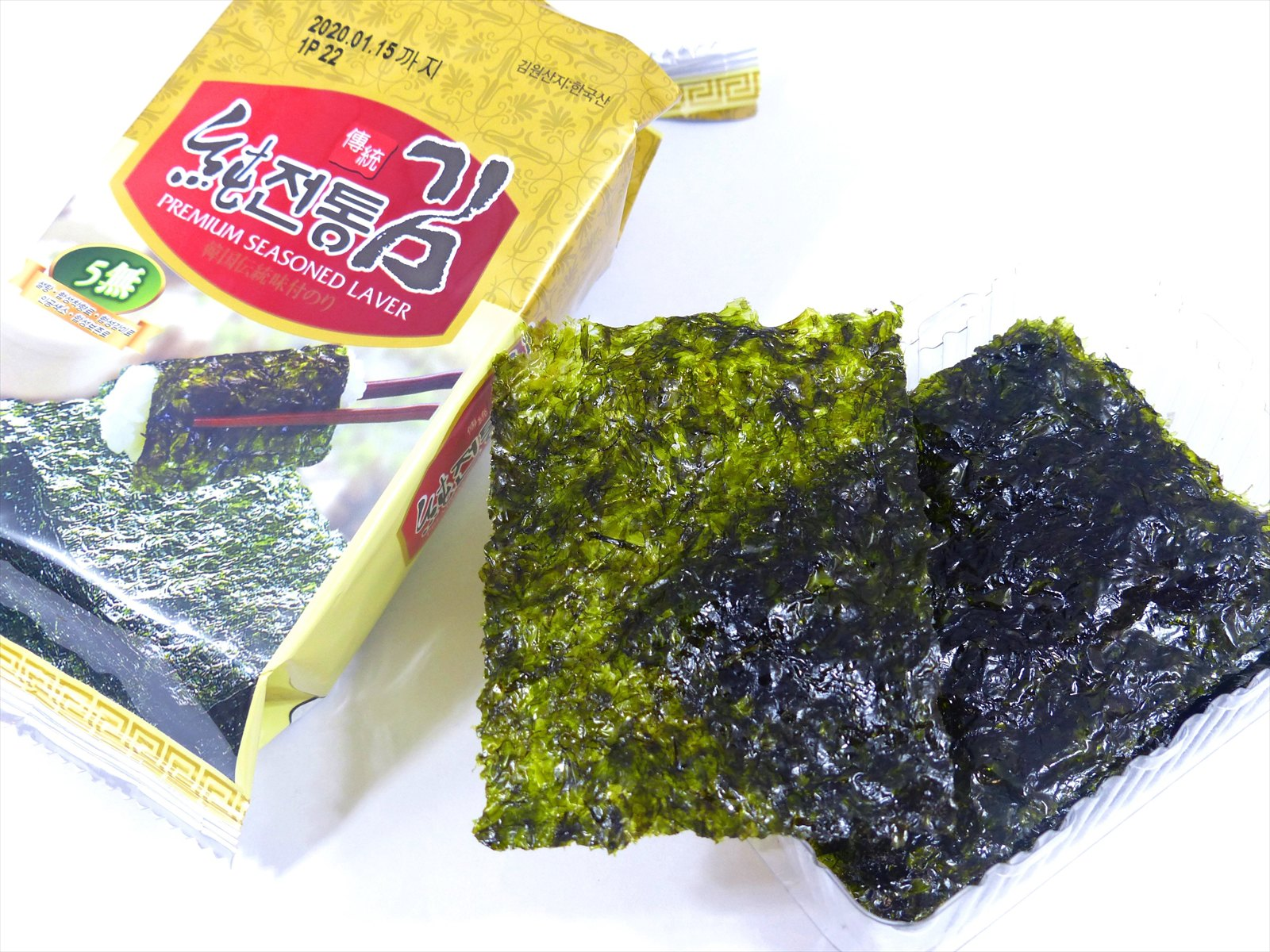 Premium SeaSoned Laver  韓国伝統味付けのり ワンパック 8枚入