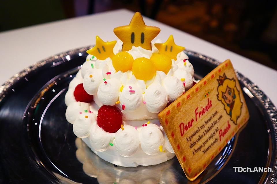 ピーチ姫のケーキ(3~4人用) ¥2,800