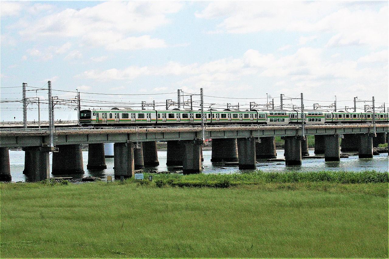 相模川を渡るとすぐに平塚に着く