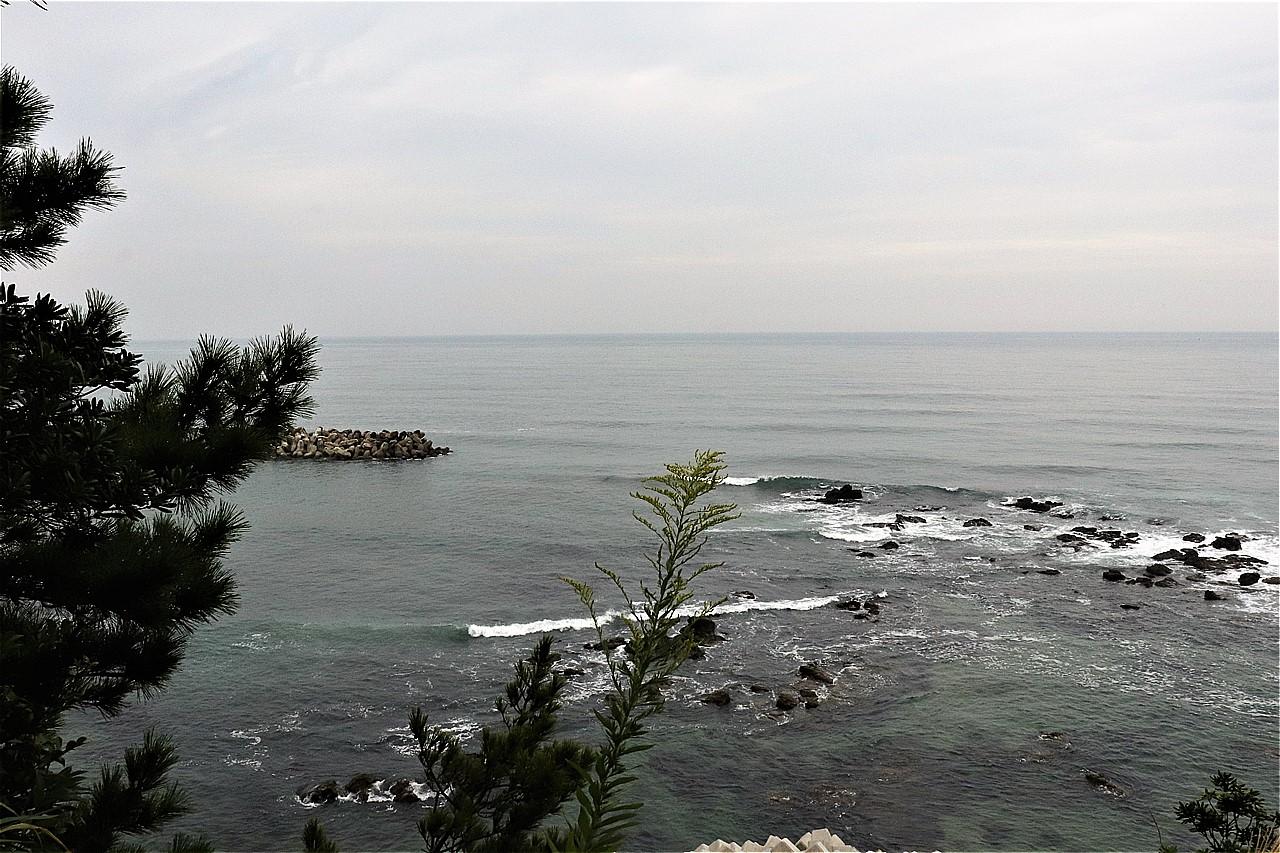 天妃山から眺める太平洋。海の向こうのアメリカは見えなかった・・・。