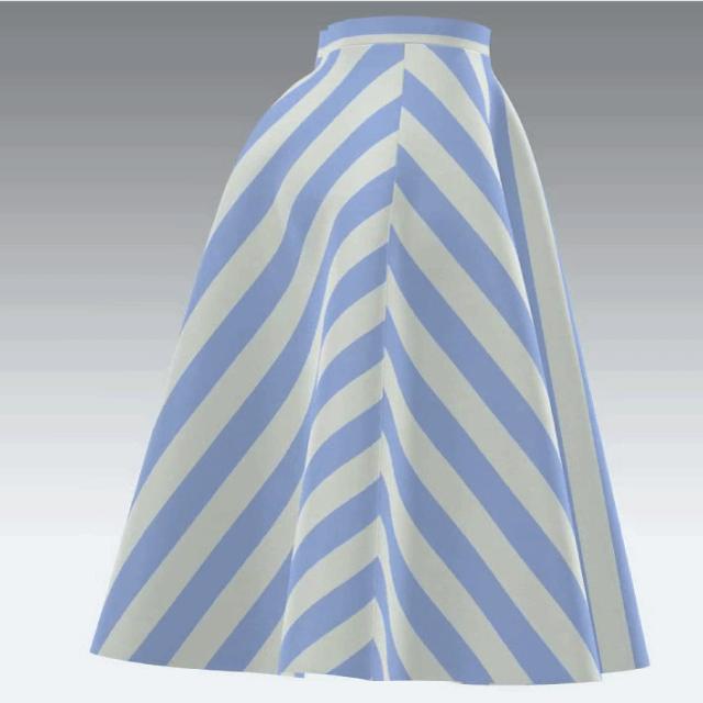 フレアスカートの側面