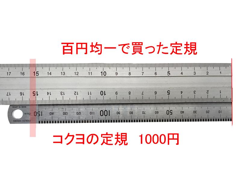 15cmで2mmずれています。