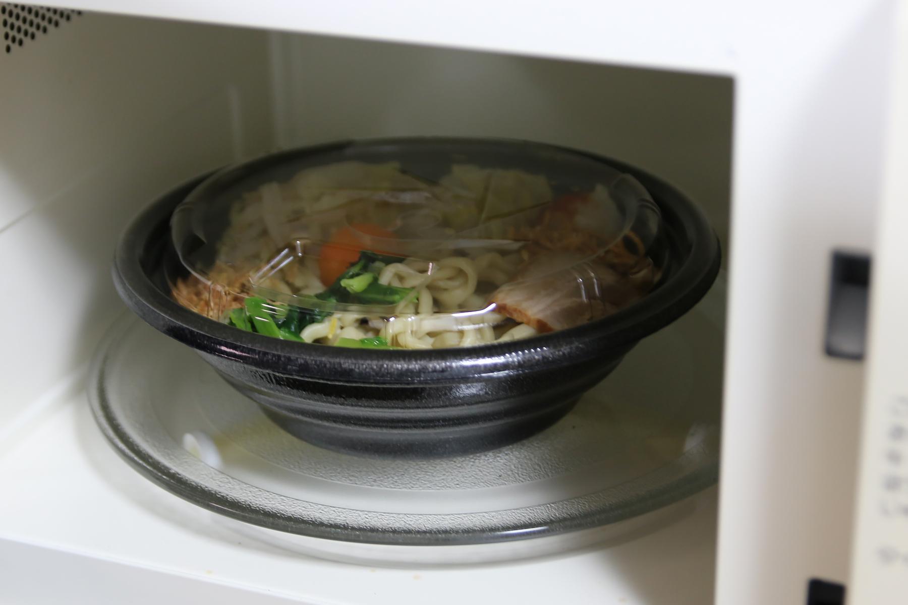 太麺なのでしっかり温め